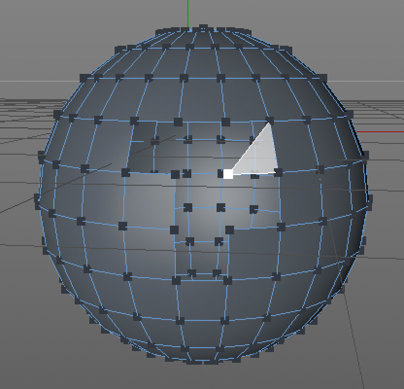 the same sphere set to show the points making up the surface