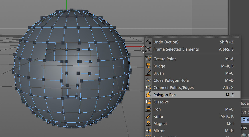 the polygon pen tool, used to close up holes in objects