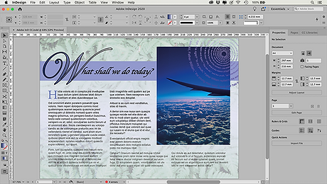this image shows an example of what you can do with adobe indesign