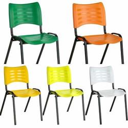 Cadeira prisma colorida fixa