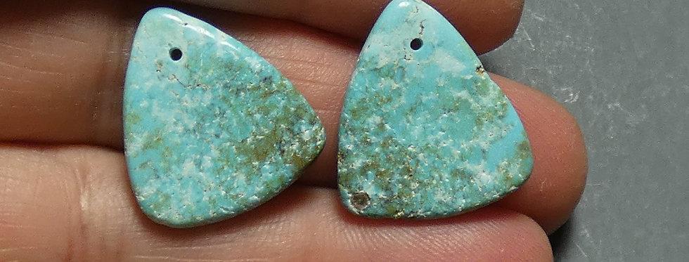 Nevada Blue Mine Turquoise Bead Pair