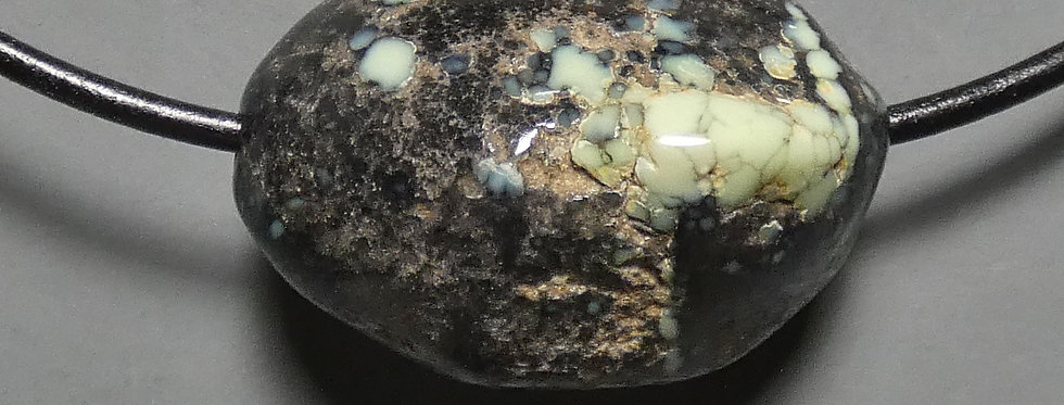Poseidon Mine Variscite 'Clam' Bead