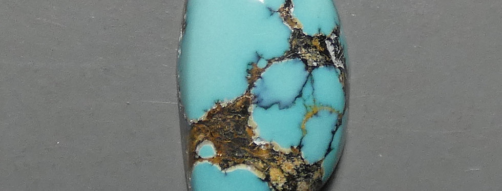 Dyer Blue Mine Natural Turquoise Cabochon