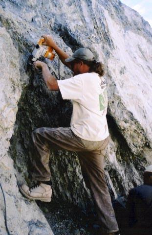 Richard working the vein