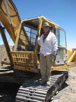 Helen with the excavator