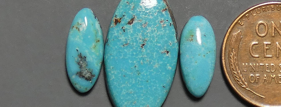 Nevada Blue Mine Natural Turquoise Cabochon Set
