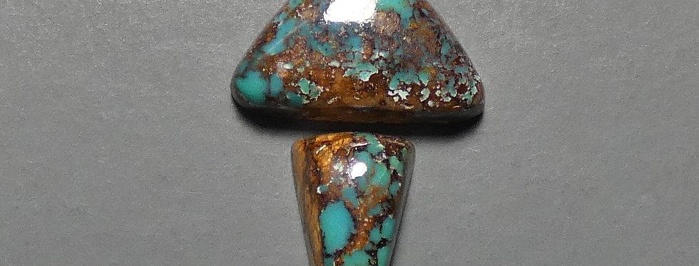 Carmelita Mine Natural Turquoise Cabochons Set