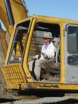 Helen working the excavator