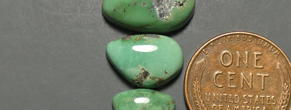 Blue Boy Mine Natural Variscite Cabochon Set