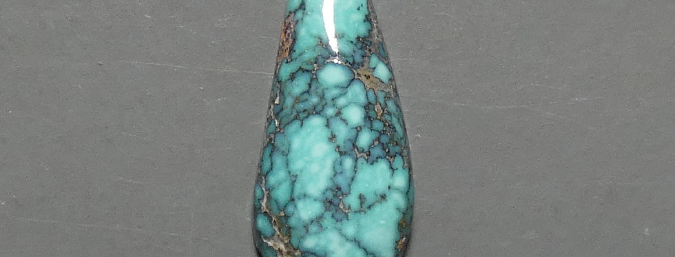 Black Widow Mine Natural Turquoise Cabochon