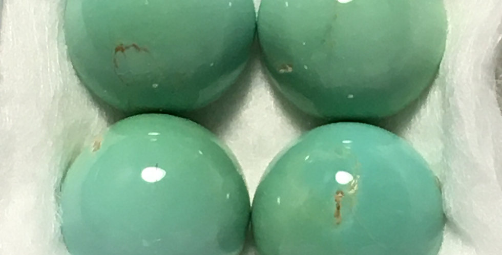 8mm - Aztec Mine Natural Turquoise Calibrated Cabochons