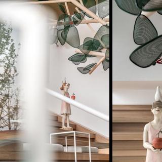 レジデンス ラウンジスペースのための作品5点 中国 蘇州  5 different works for a lounge space of a condominium Suzhou, China  2020