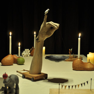 A scene from an exhibition 「banquet」  2012