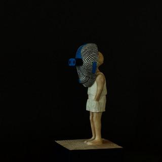 憧れの色 青  A colour of aspiration   Blue  10 x 10 x 22.5 cm 木 / wood 2016