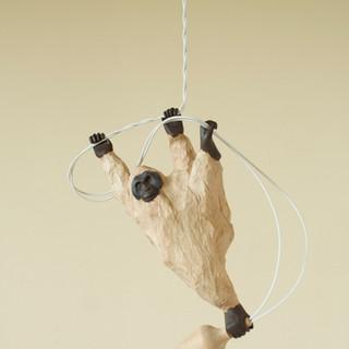 rope 03  17 x 7 x 30 cm 木 / wood, 電球 / light bulb 2017