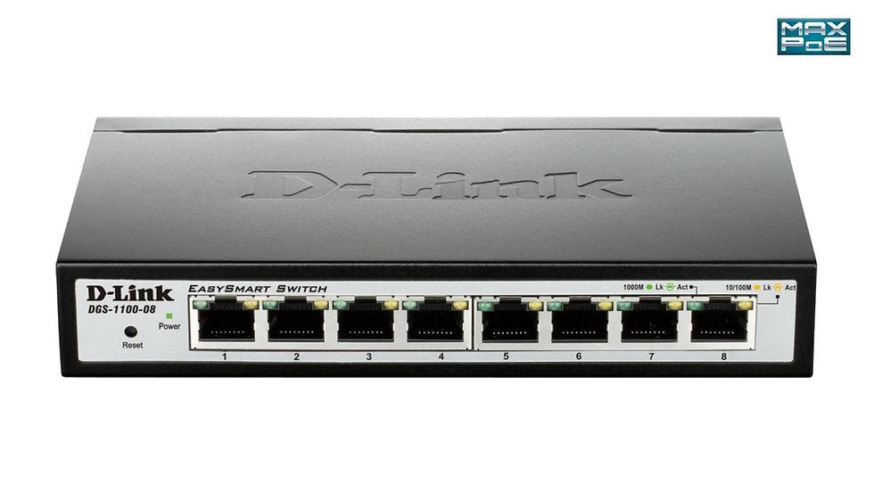 D-Link DGS-1100-08 Smart Series Switch Layer 2 Lite EasySmart Gigabit