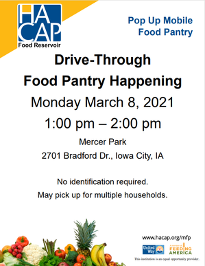 Pop Up Food Pantry March 8th