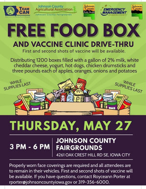 Another Food & Vaccine Drive-Thru!