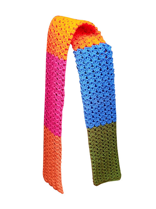 HAND KNITTED MULTIPLE COLOURS SCARF