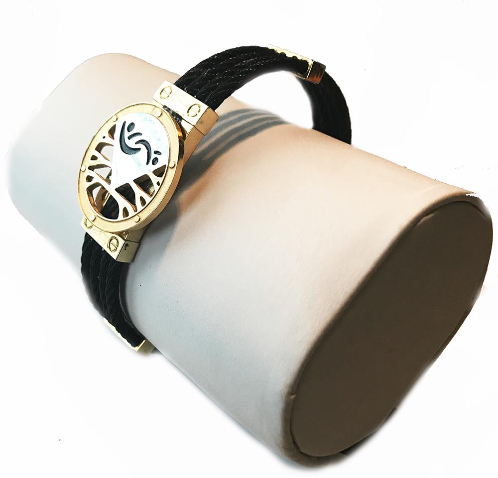 Classy Man's Black and Gold Lifestyle Bracelet