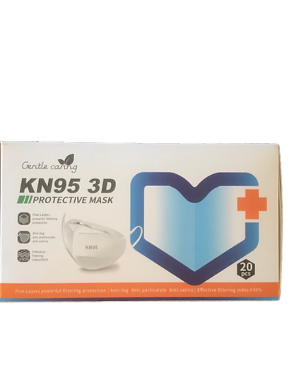 KN95 3D Protective Mask  5 Layers, 20 pcs/pack