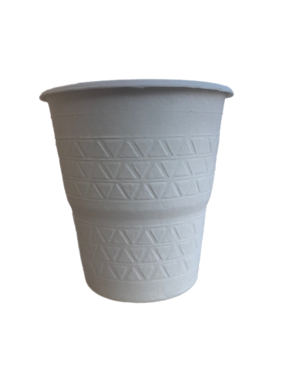 BC-8 100% Compostable Sugar Cane Heavy Duty Cup,  8 Oz, White 50 Count
