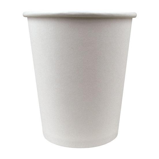 Paper Hot Cup, 8 oz, Plain White 50/pack - 1000 case