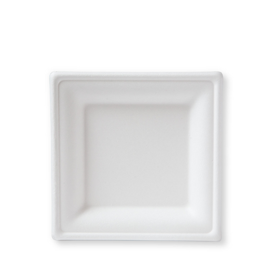 "BP-8S-500 100% Compostable Sugar Cane Heavy Duty Plate, 8"", White 500/case"