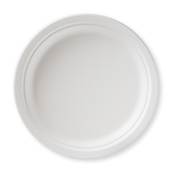 "BP-10-500 100% Compostable Sugar Cane Heavy Duty Plate, 10"", White 500/case"