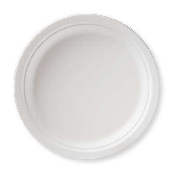 "BP-9-500 100% Compostable Sugar Cane Heavy Duty Plate, 9"", White 500/case"