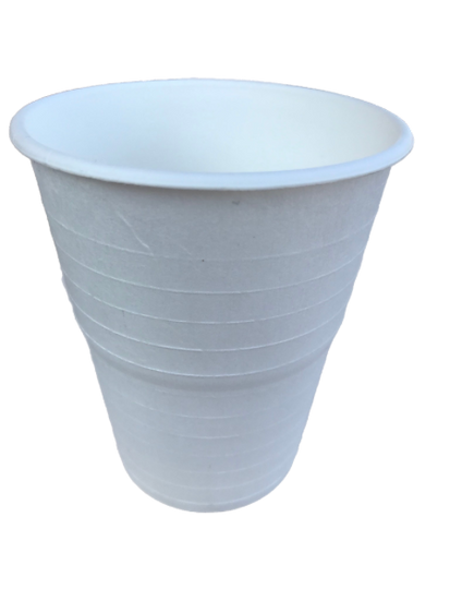 BC-12 100% Compostable Sugar Cane Heavy Duty Cup,  12 Oz, White 50 Count