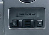 In-dash trailer brake controller