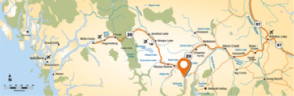 Homathko River Inn Map