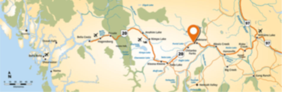 Kinikinik Accommodations Map