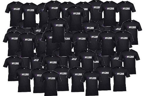 Bundle of 50 black t shirts