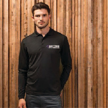 Long sleeve fitted polo shirt