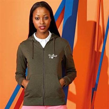 Love Vegan zipped hoodie