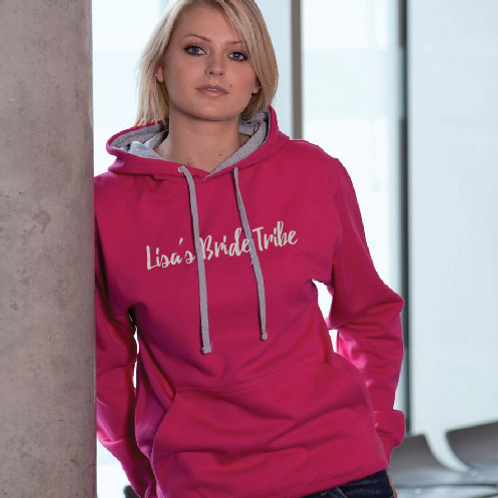 Bride tribe contrast hoodie