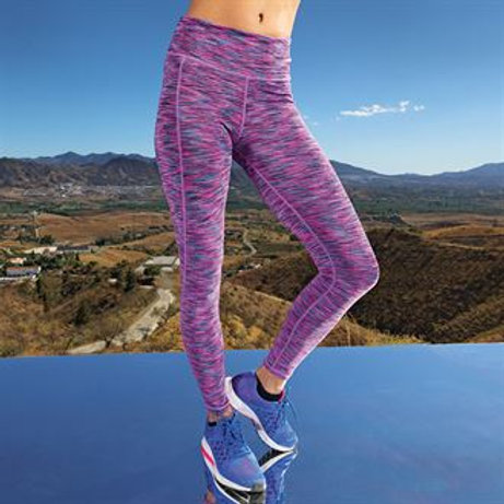 Patterned performance leggings