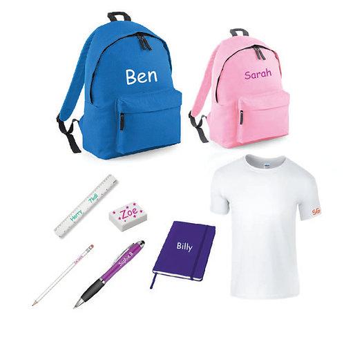Personalised school pack