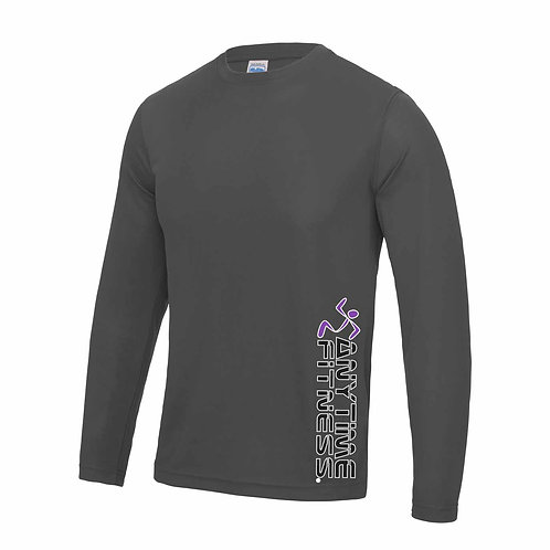 Long sleeve Charcoal T