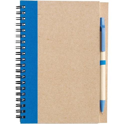 Wire bound notebook