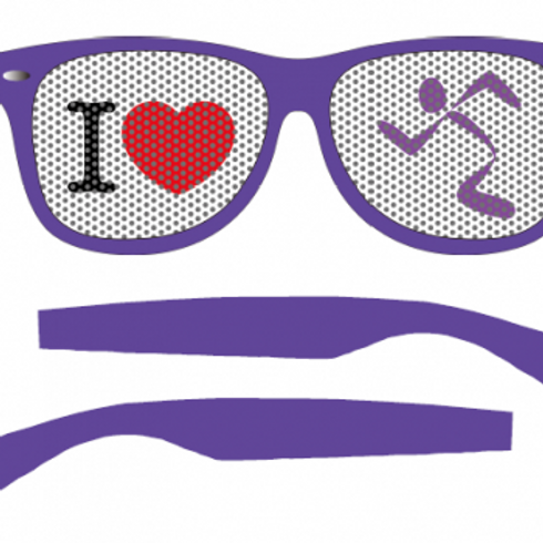 Anytime fitness novelty sun glasses
