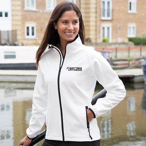 Ladies printed softshell jacket