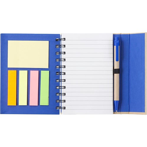 Notebook with stickies