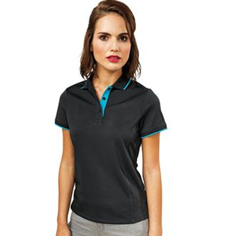 Ladies conrast polo shirt