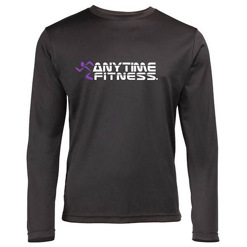 Mens sport fabric long sleeve t shirt