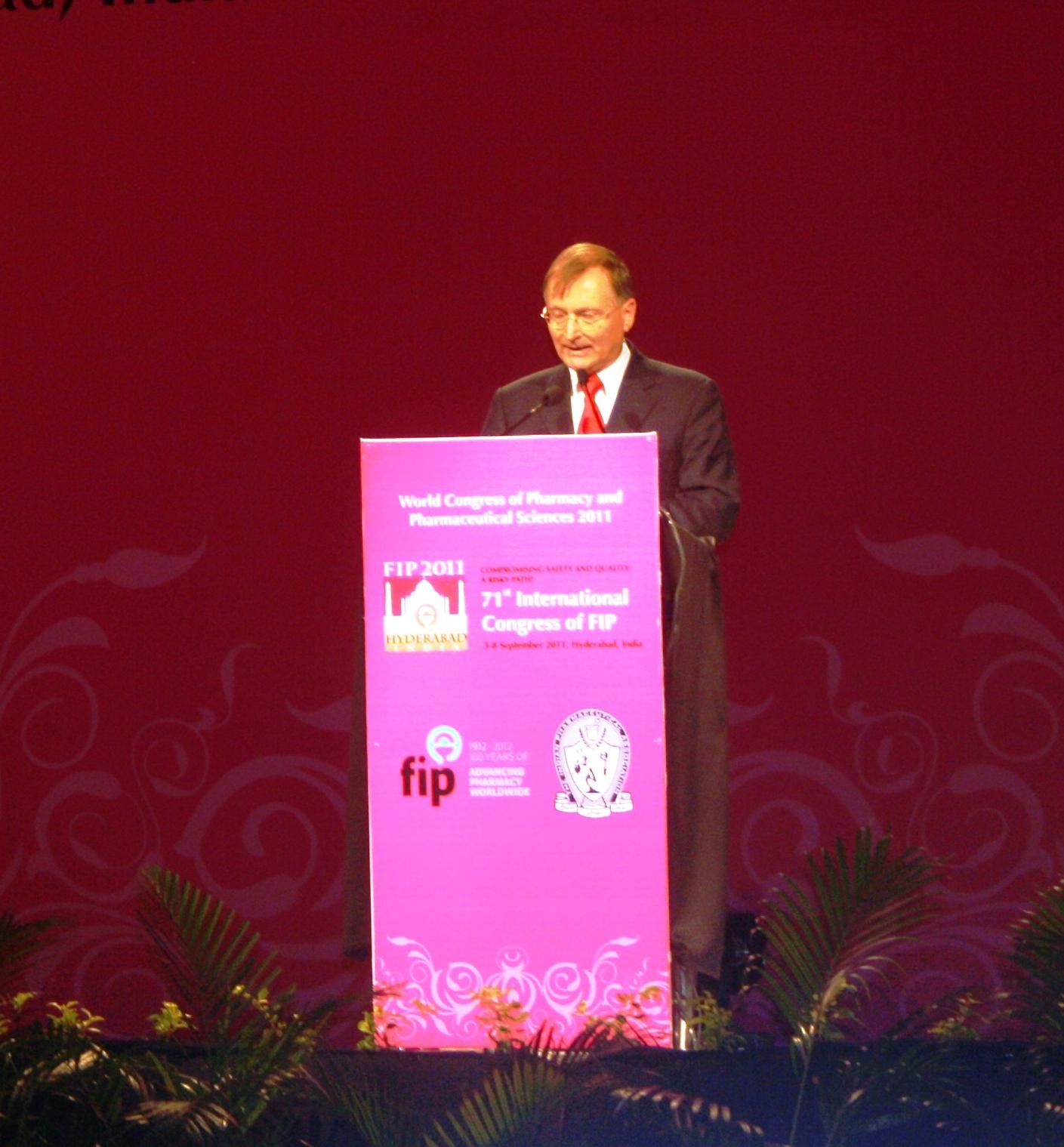 Ton Hoek at FIP Annual Congress 2012