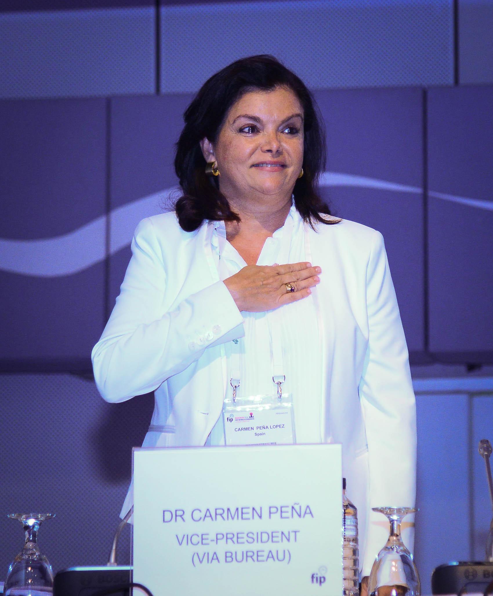 New FIP President Dr. Carmen Pena