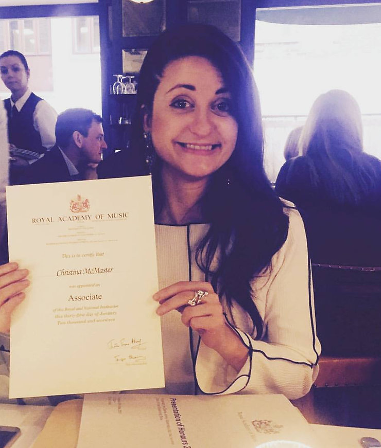 Me with my Royal Academy of Music Associate certificate 2017!